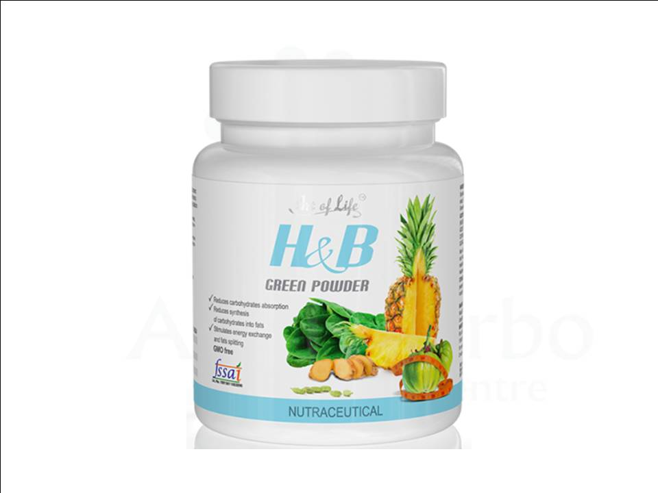 H&b Photo h&b green powder | nutraceutical - artlife delhi