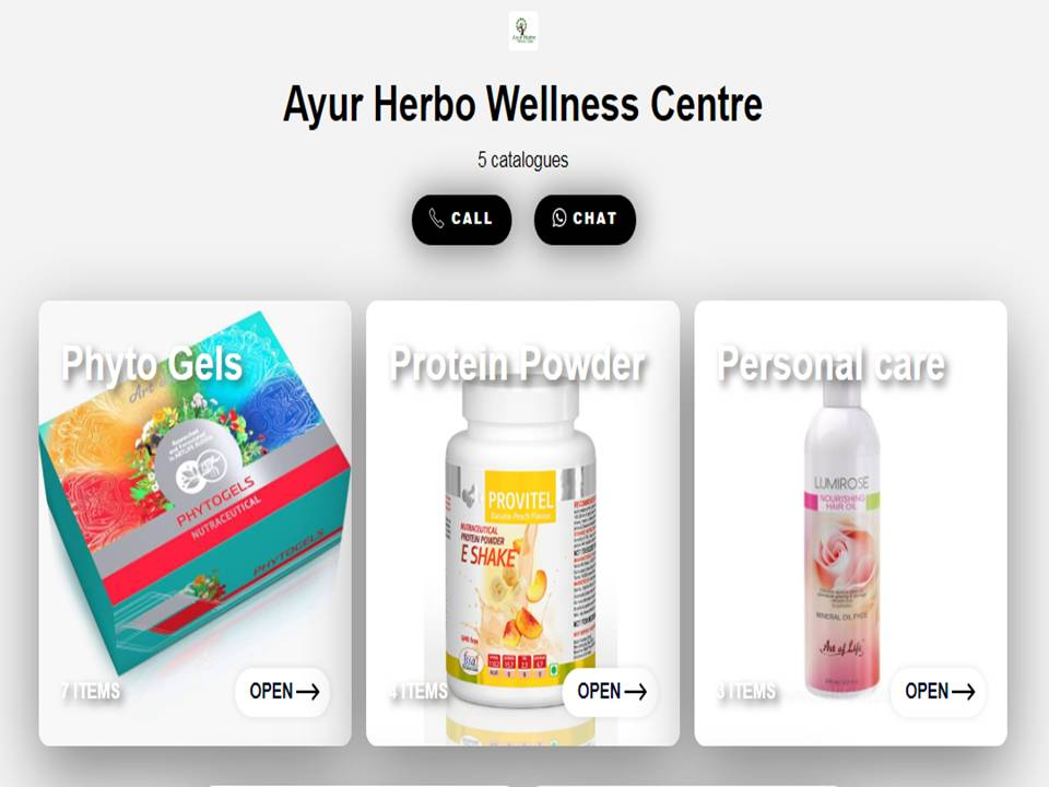 Ayur Herbo Catalog to order Artlife Products online